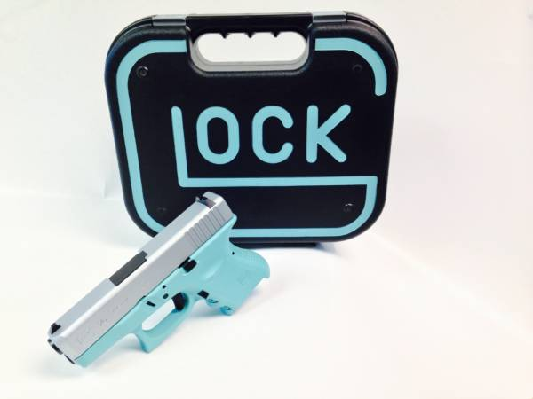 Diamond Blue And Stainless Glock 43 9mm-1942
